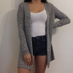 Gray Loose Knit Cardigan